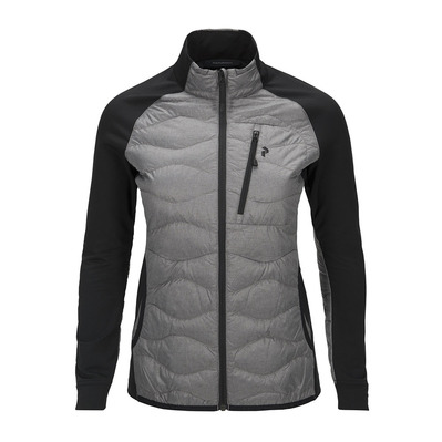 PEAK PERFORMANCE - HELIUM - Hybrid Jacket - Femme grey melange