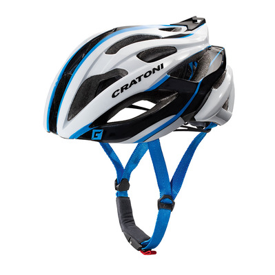 CRATONI - Casque route C-BOLT 2017 white/black/blue glossy