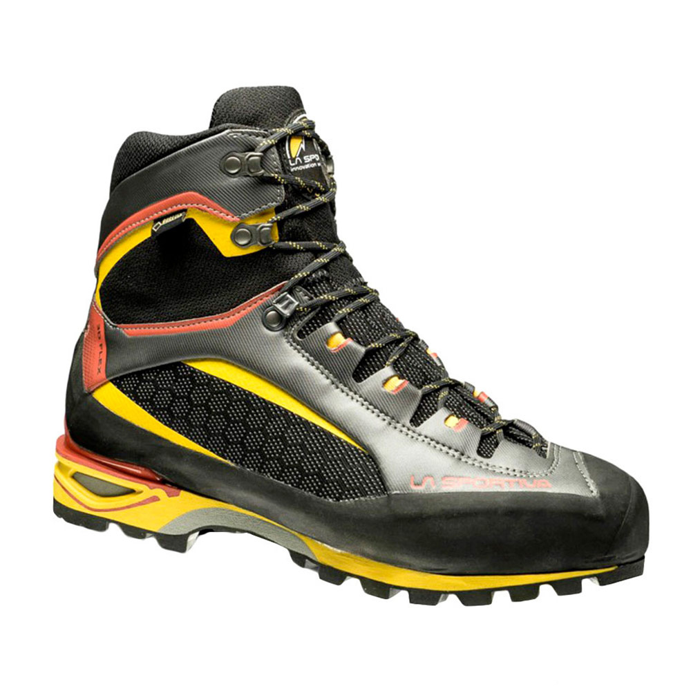 LA SPORTIVA - La Sportiva TRANGO TOWER GTX - Zapatillas de alpinismo hombre black/yellow