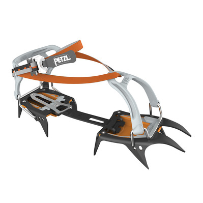 PETZL - IRVIS FLEXLOCK - Crampons noir/orange