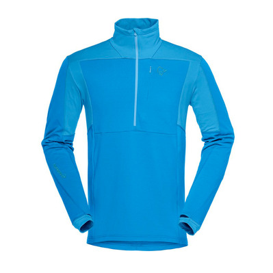 NORRONA - Polartec® Fleece - 1/2 Zip - Men's - FALKETIND WARM1 STRETCH hot sapphire