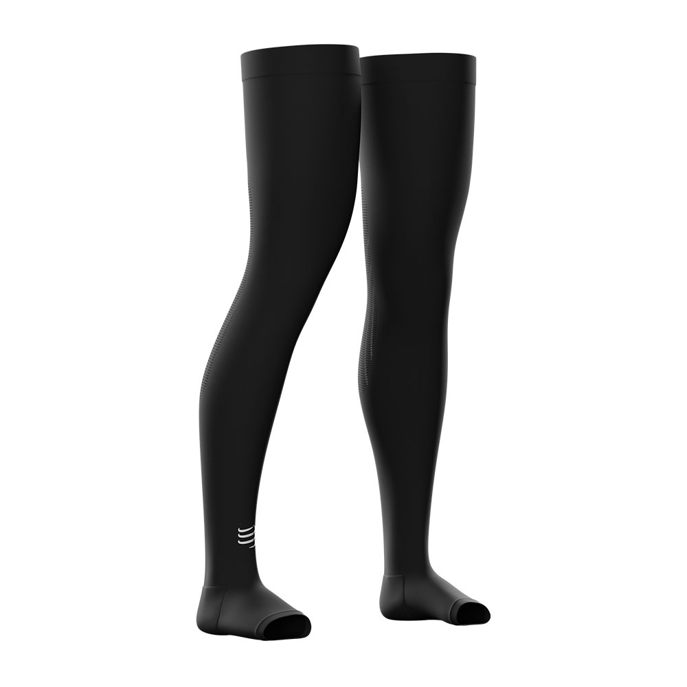 COMPRESSPORT - Compressport TOTAL FULL - Leg Sleeves - black