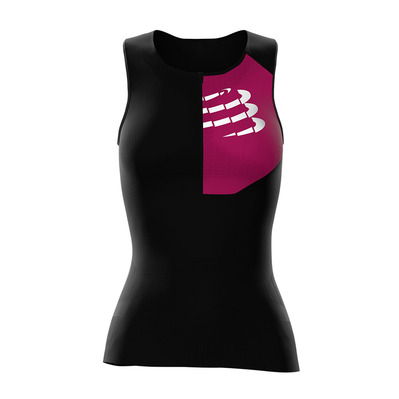 COMPRESSPORT - TRIATHLON POSTURAL ULTRA - Jersey - Women's - black