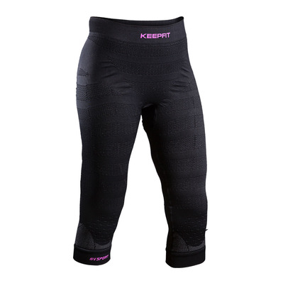 BV SPORT - KEEP FIT - Collant 3/4 Femme noir