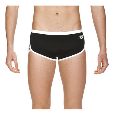 ARENA - TEAM STRIPE LOW WAIST - Boxer da bagno Uomo black/white