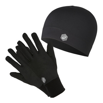 ASICS - RUNNING PACK - Bonnet + gants performance black
