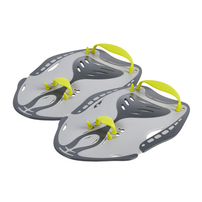 SPEEDO - POWER - Swimming Paddles - grey/green