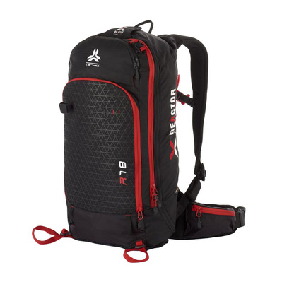 ARVA - REACTOR V2 18L - Airbag Backpack - black/red