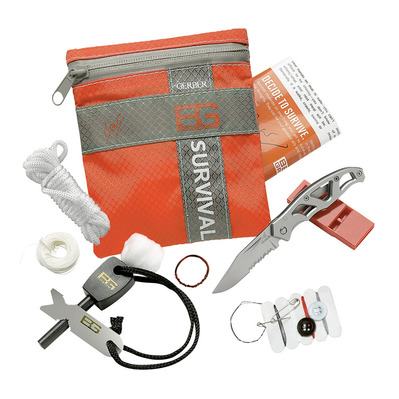 GERBER - BEAR GRYLLS - Kit survie gris/orange