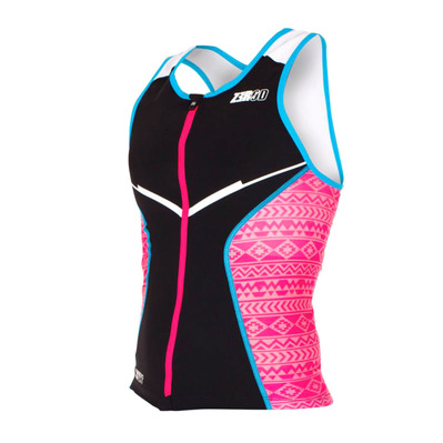 Z3ROD - RACER - Tank Top Triathlon Frauen black/pink/atoll