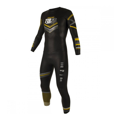 Z3ROD - VANGUARD - Traje de triatlón hombre 5/3/1.5mm black/yellow
