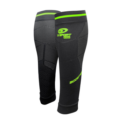 BV SPORT - BOOSTER ELITE EVO2 - Calf Sleeves - black/green