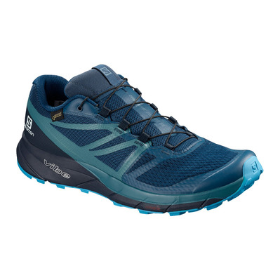 SALOMON - SENSE RIDE 2 INVISIBLE FIT GTX - Chaussures trail Homme poseidon