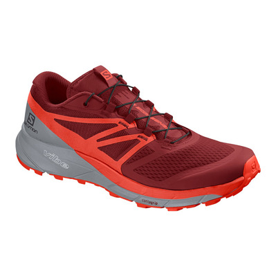 SALOMON - SENSE RIDE 2 - Chaussures trail Homme rd dahlia/cherry to/quarry