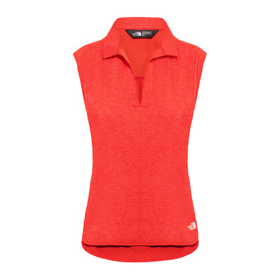 THE NORTH FACE - INLUX - Polo - Women's - juicy red dark heather