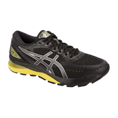 ASICS - GEL-NIMBUS 21 - Running Shoes - Men's - black/lemon spark