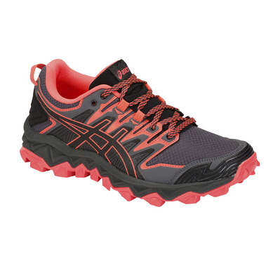 ASICS - GEL-FUJITRABUCO 7 - Chaussures trail Femme black/flash coral