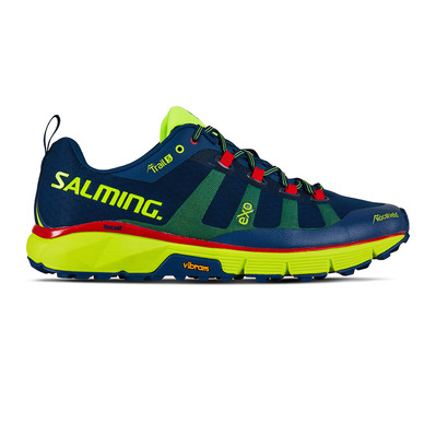 SALMING - TRAIL T5 - Chaussures trail Homme bleu/jaune