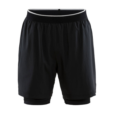 CRAFT - Charge short 2 en 1 homme noir