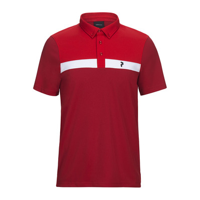 PEAK PERFORMANCE - PANMORE - Polo - Men's - chilli pepper