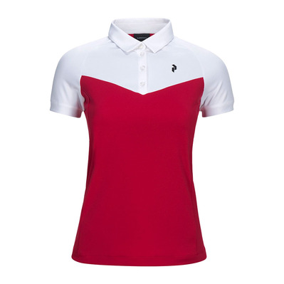PEAK PERFORMANCE - VERSEC - Polo Femme true pink