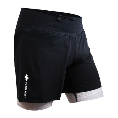 RAIDLIGHT - REVOLUTIV - Short 2 en 1 hombre dark grey