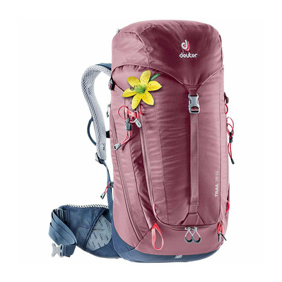 DEUTER - TRAIL 28L - Backpack - Women's - burgundy/navy blue