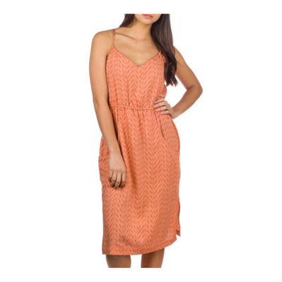 PATAGONIA - LOST WILDFLOWER - Vestido mujer bluff river/sunset orange