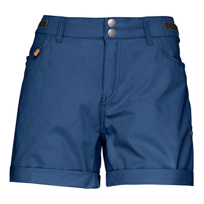 NORRONA - SVALBARD LIGHT COTTON - Short Femme indigo night