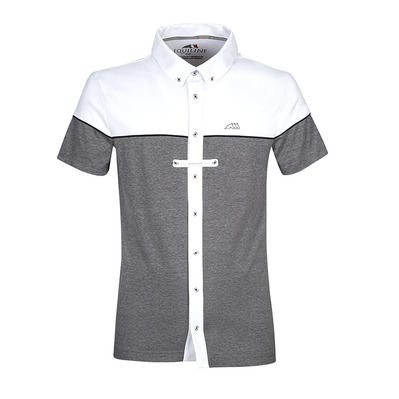 EQUILINE - DEDALO - Chemise concours Homme melange gray