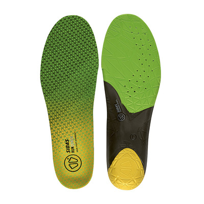 SIDAS - RUN 3D SENSE - Semelles green/black/yellow