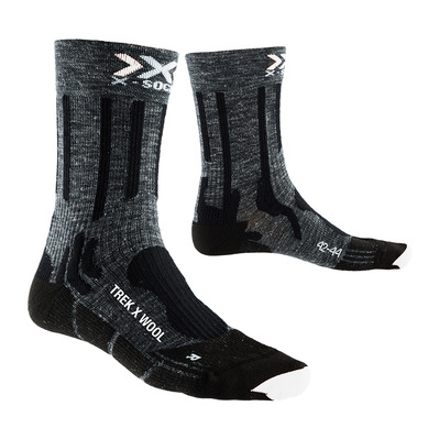 X-SOCKS - TREK X LINEN - Calcetines antracita/black