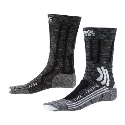 X-SOCKS - TREK X LINEN - Socks - Women's - grey / black