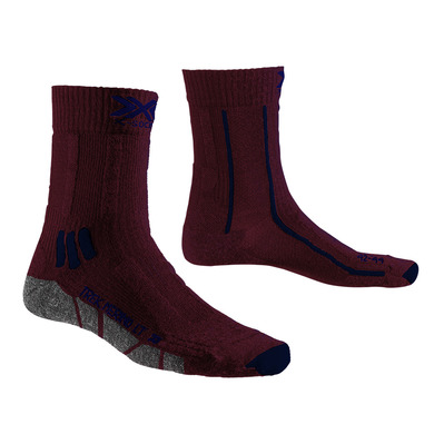 X-SOCKS - TREK X MERINO LIGHT - Socks - dark ruby