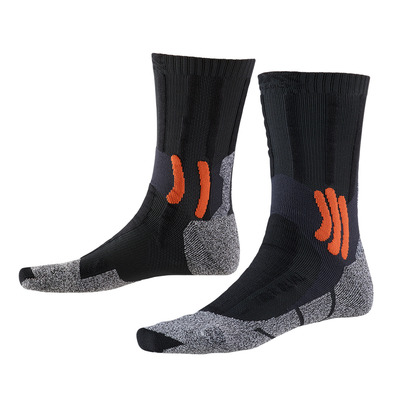 X-SOCKS - TREK DUAL - Socks - grey/orange