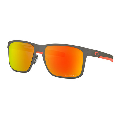 OAKLEY - HOLBROOK METAL - Polarised Sunglasses - matt gunmetal/prizm ruby