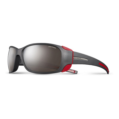 JULBO - MONTEBIANCO - Sunglasses - matt black/red/flash silver