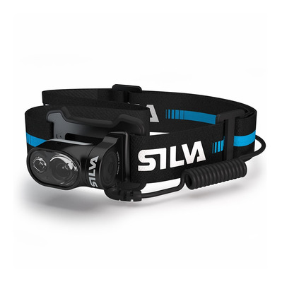 SILVA - CROSS TRAIL 5X - Linterna frontal negro/azul