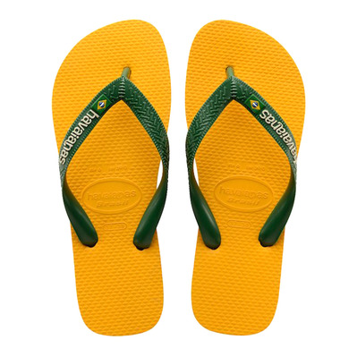 HAVAIANAS - BRASIL LOGO - Tongs Homme banana yellow