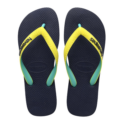 HAVAIANAS - TOP MIX - Flip-Flops - navy/neon yellow