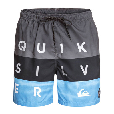 QUIKSILVER - Boardshorts - Men's - WORD BLOCK VOLLEY 17 iron gate