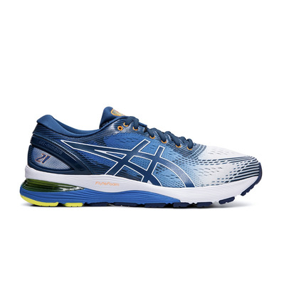 ASICS - GEL-NIMBUS 21 - Chaussures running Homme white/lake drive