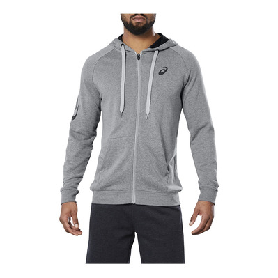 ASICS - BIG ASICS FZ HOODIE MID GREY HEATHER/DARK GREY Homme