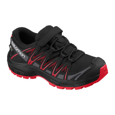 SALOMON - XA PRO 3D CSWP - Chaussures randonnée Junior black/black/high risk red