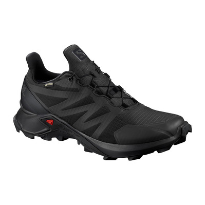 SALOMON - SUPERCROSS GTX - Trail Shoes - Women's - black/black/black