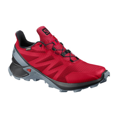 SALOMON - SUPERCROSS GTX - Zapatillas de trail hombre barbados cherry/black/flint