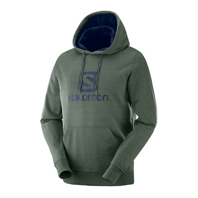 SALOMON - LOGO - Sweat Homme green gab