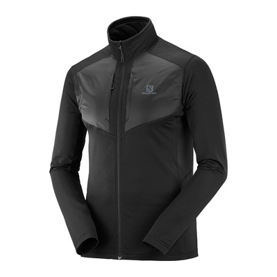 SALOMON - GRID FZ - Fleece - Men's - black