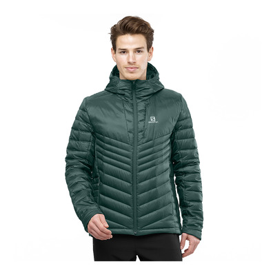 SALOMON - HALOES DOWN - Down Jacket - Men's - green gab