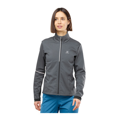SALOMON - AGILE SOFTSHELL - Jacket - Women's - ebony